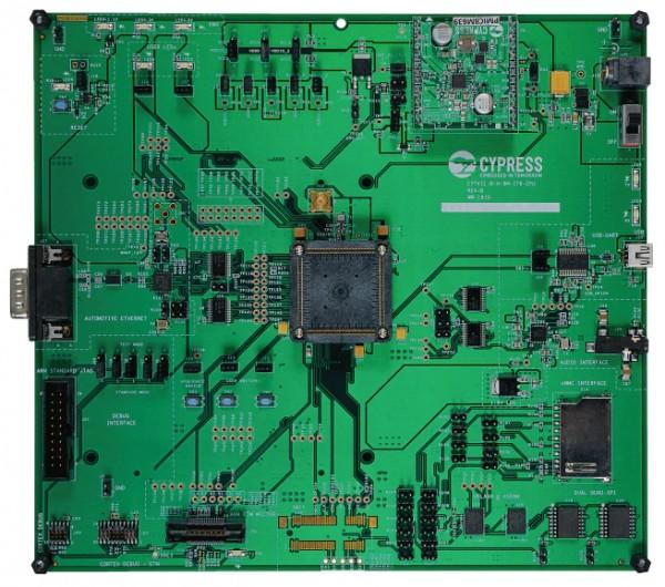 CYTVII-B-H-176-SO Traveo II Socketed Body Evaluation Board