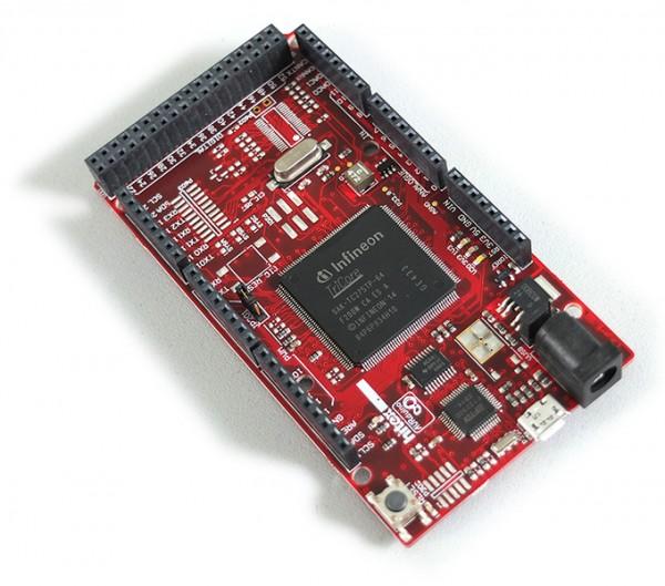 Hitex ShieldBuddyTC275 – Aurix powered Arduino™ UNO R3 hardware compatible platform