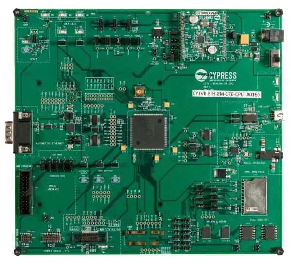 CYTVII-B-H-4M-176-CPU Traveo II Body Evaluation Board